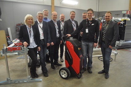 Part of the Aquajet team, from left Marianne Hilmersson, Stefan Hilmersson, Peter Bigwood, Bjarne Axelsson, Patrik Andersson, Martin Krupicka, Roger Simonsson, Ronnie Hilmersson and Dennis Hilmersson.