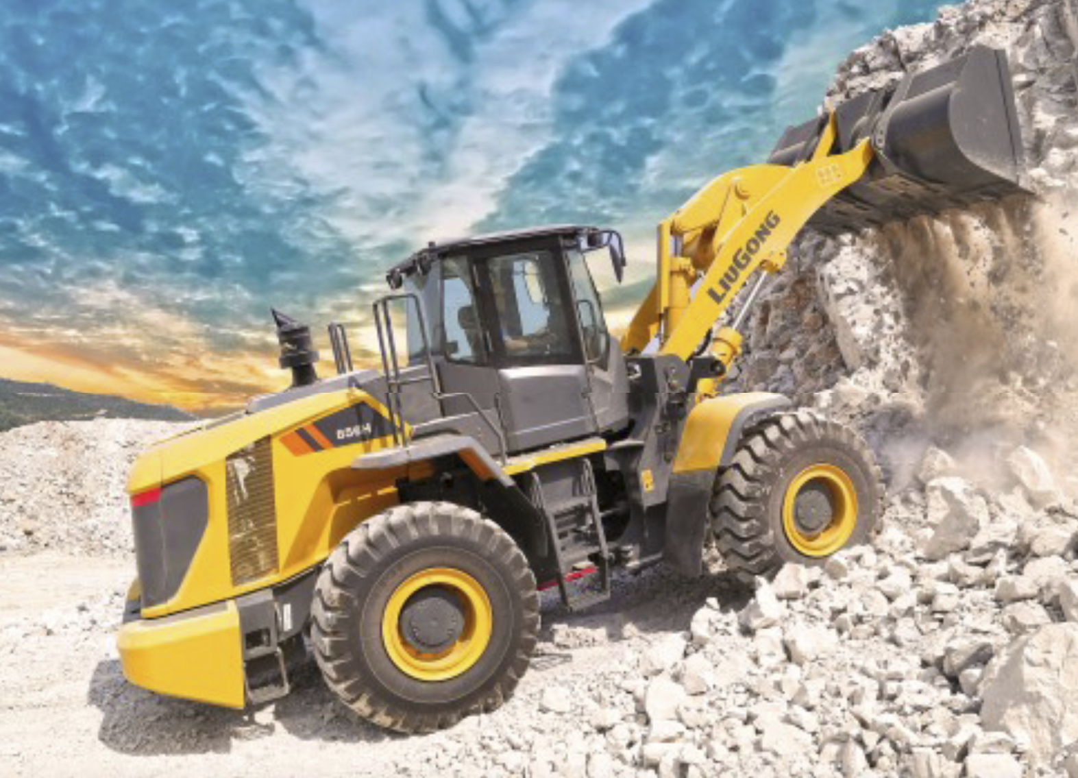 LiuGong's 856H wheel loader for Europe