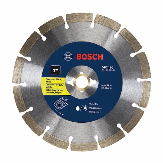 Efficient Bosch premium segmented rim diamond blade