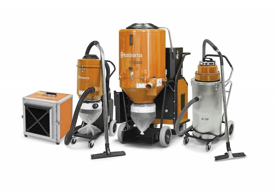 Husqvarna adds dust and slurry management equipment
