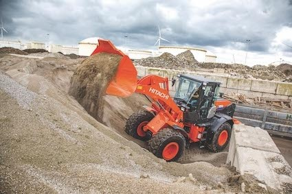 Hitachi wheel loader helps drive Swiss recycling plant
