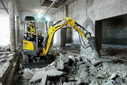 Wacker Neuson unveils first battery powered zero tail mini excavator