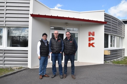 (left to right): Naoki Watanabe - President of NPK France, Thierry Lambert - Sales Manager, Philippe Heniau – Technical Director.