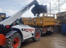 UK's first Bobcat 'Waste Expert' telescopic loader operating in Sheffield
